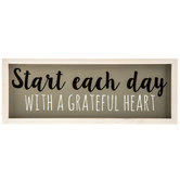 Start Each Day Wood Wall Decor